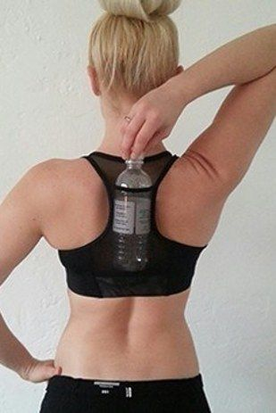 Freeze a water bottle. And put it in your sports bra. | Here's How To Actually Go Running When It's Hot AF