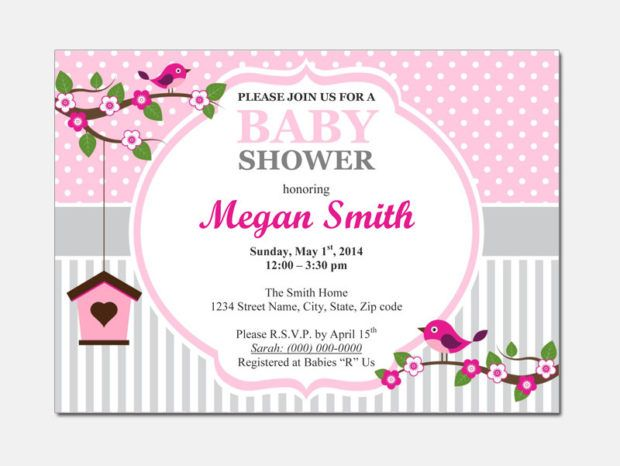 Baby Shower Invitation Template For Microsoft Word