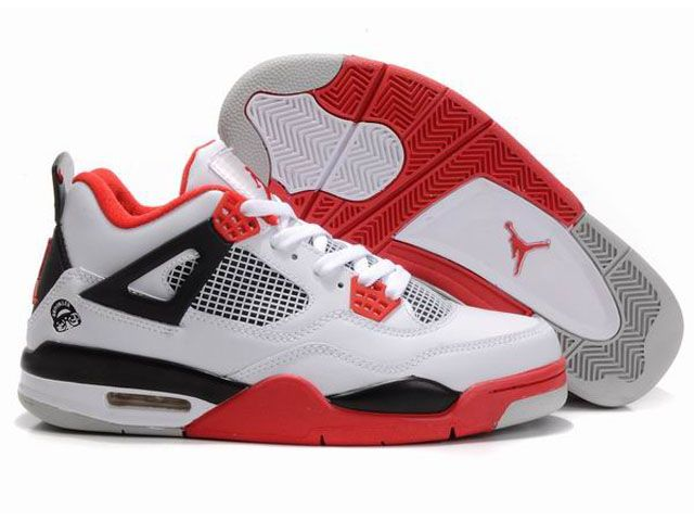 red white black air jordans 4 iv retro men shoes for sale http://