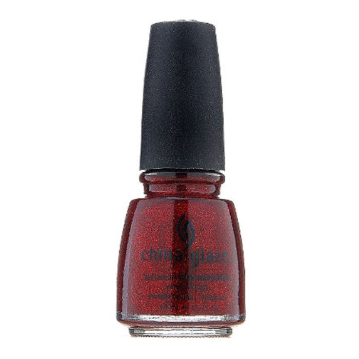 The Ten Best Holiday Red Nail Polishes//#2 China Glaze Nail Lacquer with Hardeners in Ruby Red Pumps #rankandstyle