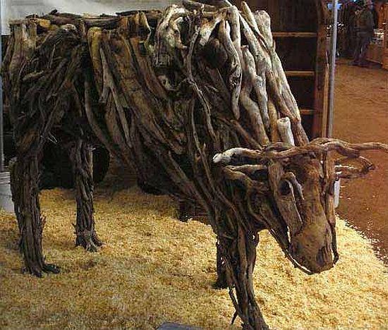 Matt Torrens - sculpture en bois flotté