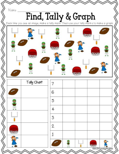 Football Frenzy FREEBIE Printables...ELA: Syllables, ABC Order, Opinion Writing...Math: Find, Tally & Graph