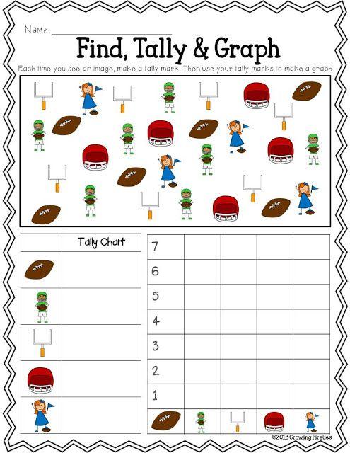 Football Frenzy FREEBIE Printables...ELA: Syllables, ABC Order, Opinion Writing...Math: Find, Tally & Graph