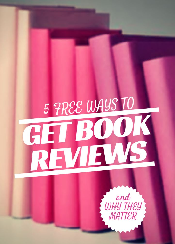 Get More Book Reviews…Free With a little hard work, self published authors can increase the number of reviews they get on Amazon and Goodreads. Outlined here are 5 free sites for book reviews…