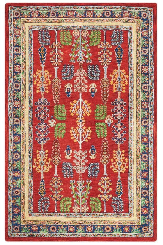 The Home Decorators Collection Regency Red 3 Ft X 5 Area Rug Is Constructed Of Hand Tufted Wool Or Viscose This Comes With Cotton And Latex Backing