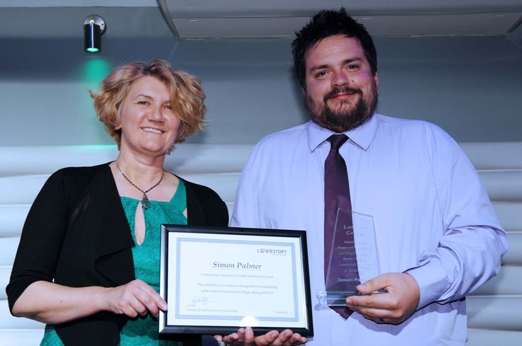 Simon Palmer Outstanding Progression in Maths and English Award Sponsored by Lowestoft College