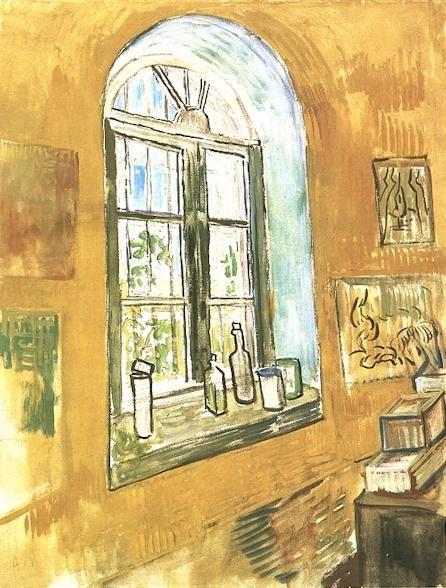 Vincent van Gogh: Window in Vincent's Studio at the Asylum. Saint-Remy: May or October, 1889. Watercolour. Amsterdam: Van Gogh Museum.