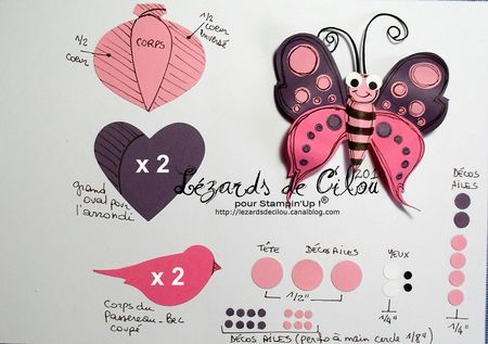 Butterfly and other awesome punch art ... Cecile Ortiz's blog is in French but it is full of awesomeness!!