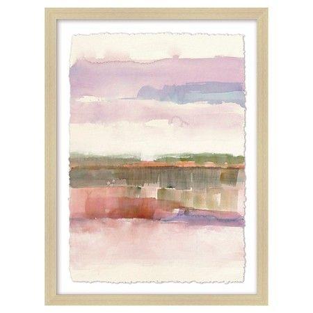 """Framed Watercolor Landscape 18""""x24"""" - Threshold™ : Target"""