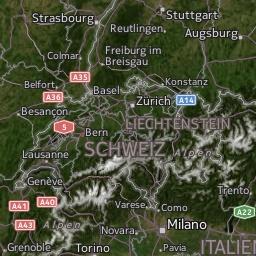Radar de lluvia en Suiza