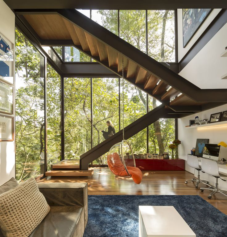 stairs, steel, glass, home, comtemporary, living space