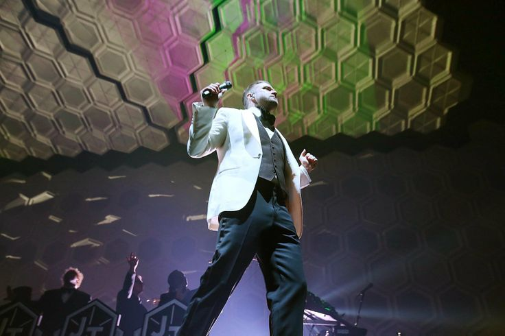 IE8 OS Justin Timberlake performs during his concert at the Amway Center in Orlando, Florida, on Thursday, December 19, 2013. (Stephen M. Dowell/Orlando Sentinel)