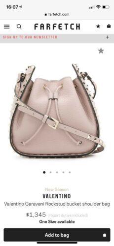 da2596e6f6 Details about NEW Valentino Garavani RockStud Bucket Bag, Poudre ...