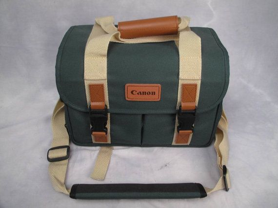 Canon Vintage Camera Bag New Old Stock Rare Hunter Green Tan Combo In 2018 Cameras Etc Pinterest And Bags
