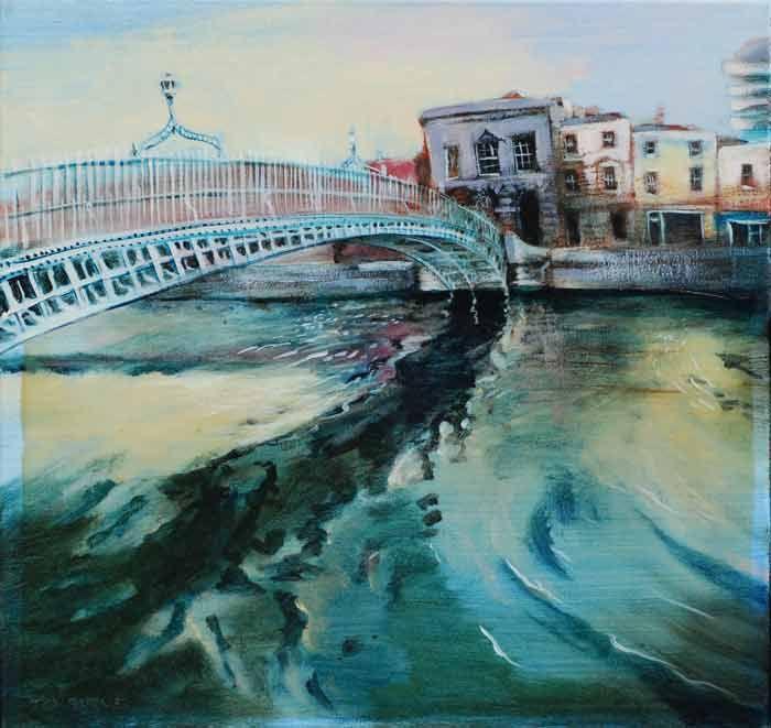 #HaPennyBridge from #DublinBridges Series by #TomByrne from #DukeStreetGallery Dublin