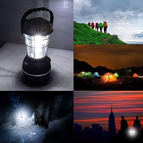 Campeggio solare, AGPtek Modo 5 dinamo della manovella solare 36 LED Lanterna ricaricabile di campeggio del lavoro della luce Luce di emergenza luminoso Ultra - Acqua Lanterna Resistente - Sincronizzazione e Ricarica - per caccia pesca Emergenze Hurricanes Interruzioni