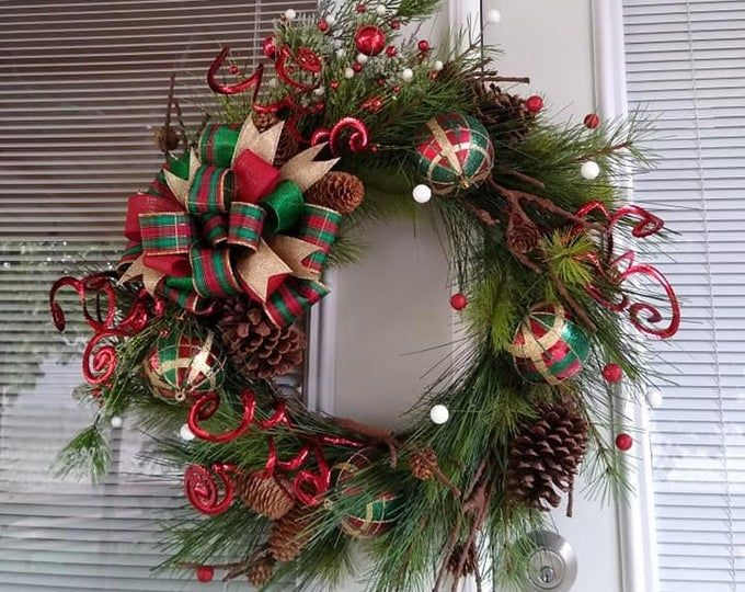 Handmade Christmas Reindeer Wreath Navidad Hecha A Mano Guirnaldas Reno