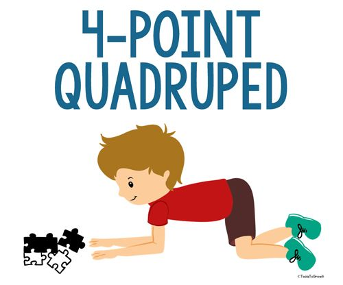 4-Point Quadruped Position - Copyright ToolsToGrowOT.com
