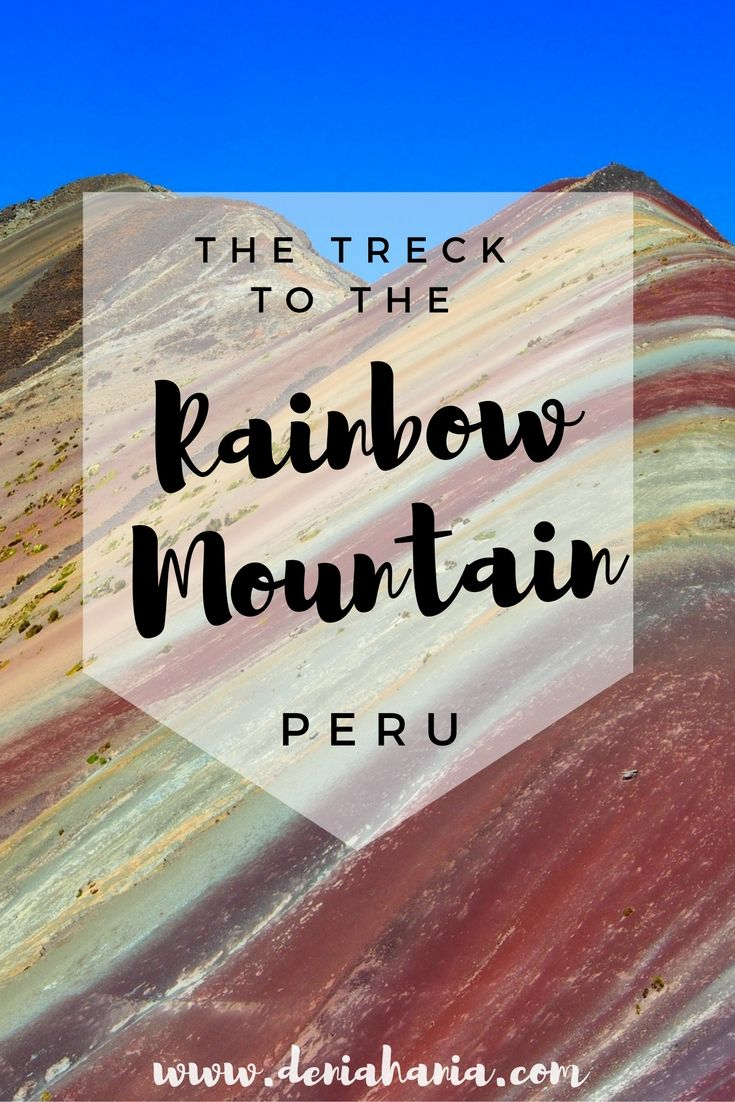 A hidden gem of Peru! Read about the hike to the Rainbow mountain, Vinicunca