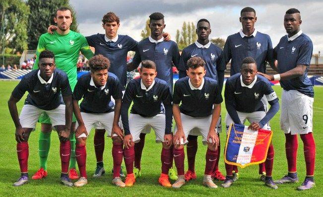 Onguéné, Thuram et Fuchs avec la France pour l'Euro U19