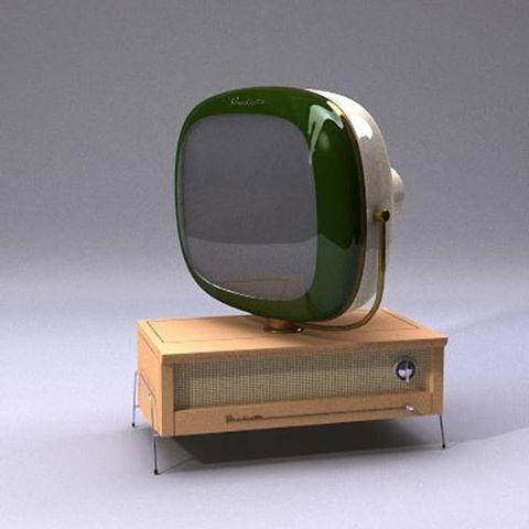 Philco Predicta TV: I wish I had one of these made into an aquarium.