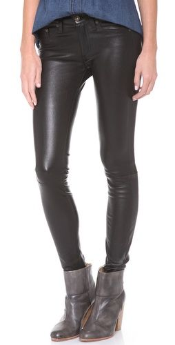 Rag & Bone/JEAN The Leather Skinny Pants // a fall must-have