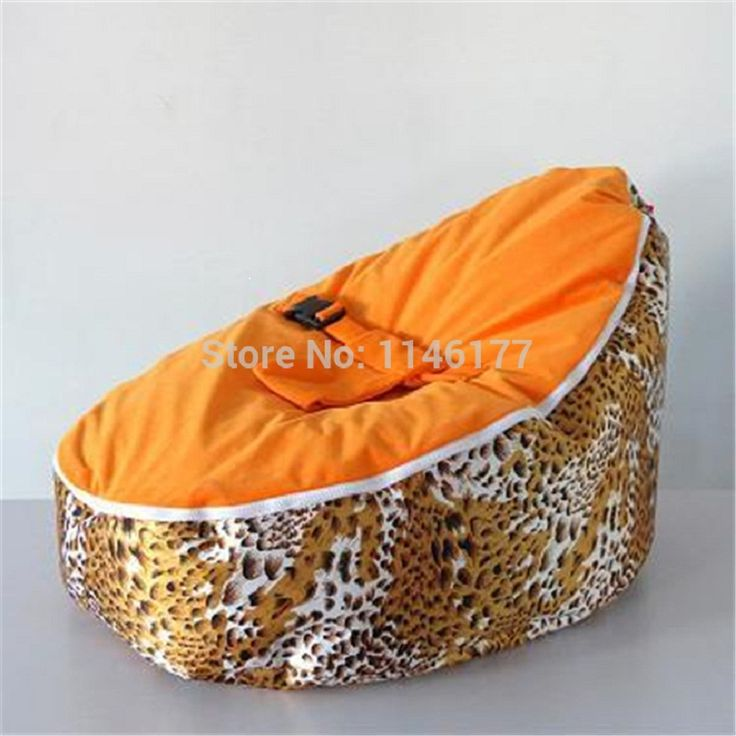 Ywxuege No Fillers! Newborn Beanbag Cover Portable Safe Baby Chair Sofa/baby Seat/leopard Baby Beanbag