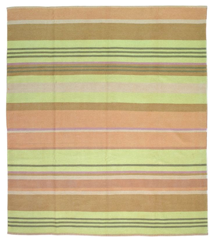 Large Yellow, Orange and Brown Kilim Oriental Rug 8'7X9'8