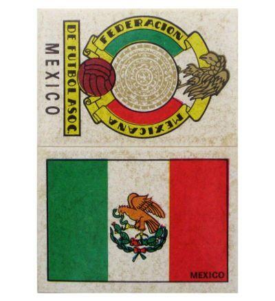 Panini Mexico 70 Wappen + Flagge Mexiko