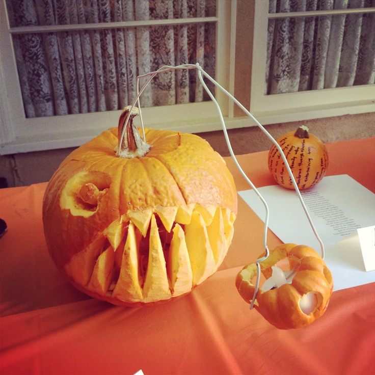 An angler fish from our office pumpkin carving contest