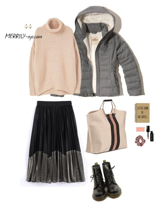fashion by yumiko-merrily on Polyvore featuring ファッション, MANGO, Hollister Co., Dr. Martens, Bobbi Brown Cosmetics and RMK