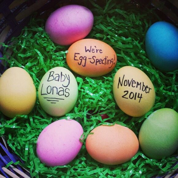 Easter Pregnancy announcement . Baby announcement . Due november