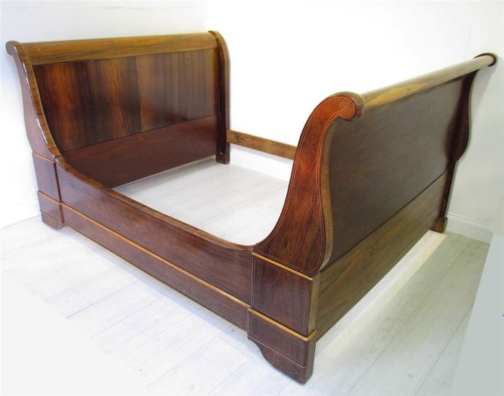 An Excellent Large French Antique 19th C Rosewood Day Bed