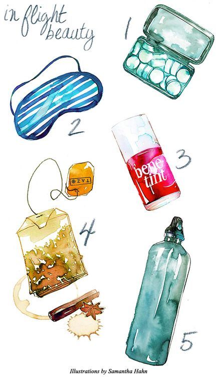 Love this idea of packing an eye mask and ear plugs for our long overnight flight to Hawaii...J.Crew | Blog