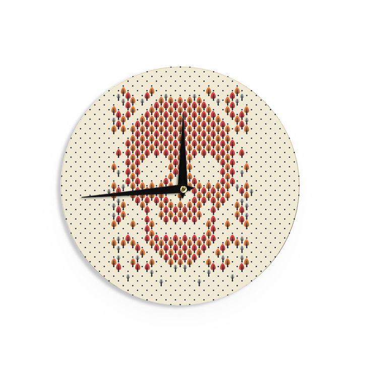 """Tobe Fonseca """"Deforestation"""" Skull Illustration Wall Clock"""