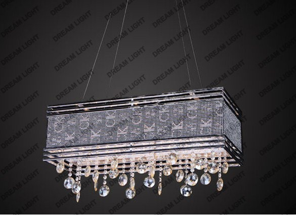Chandelier Idea Over Fluorescent Lighting Design