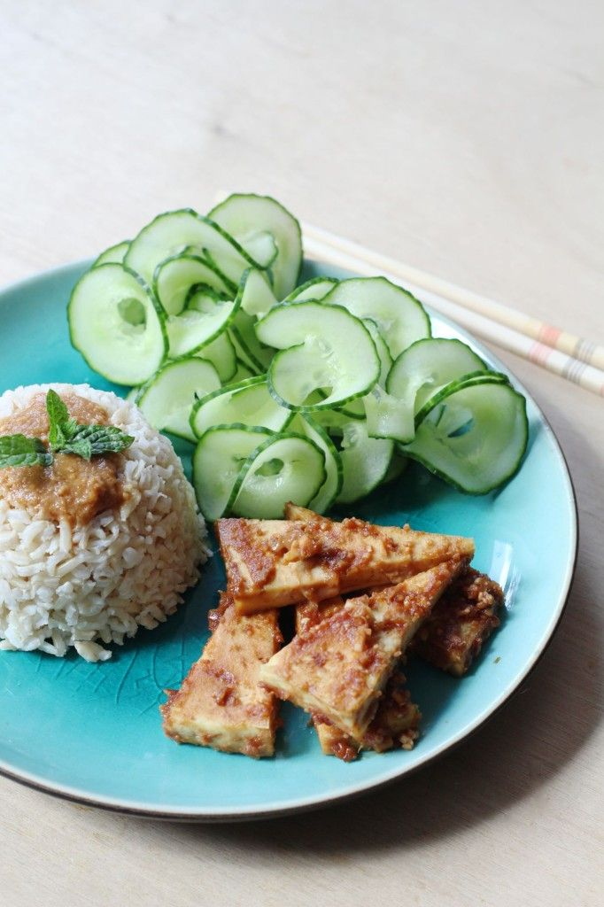 Peanut-ginger tofu