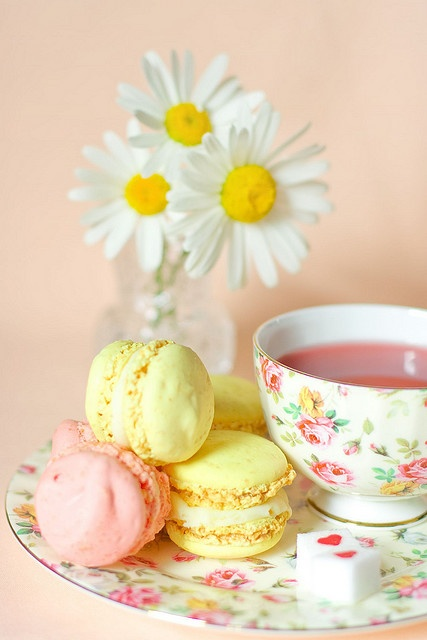 A very pastel afternoon tea