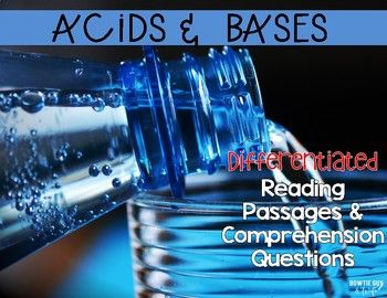In this resource, there is a nonfiction reading passage explaining basic information about acids and bases. It is differentiated for your high, mid, and lower level readers. Integrate science with your reading and meet each reader's needs with this set.