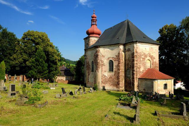 Kostel Všech svatých, Heřmánkovice | broumovské kostely