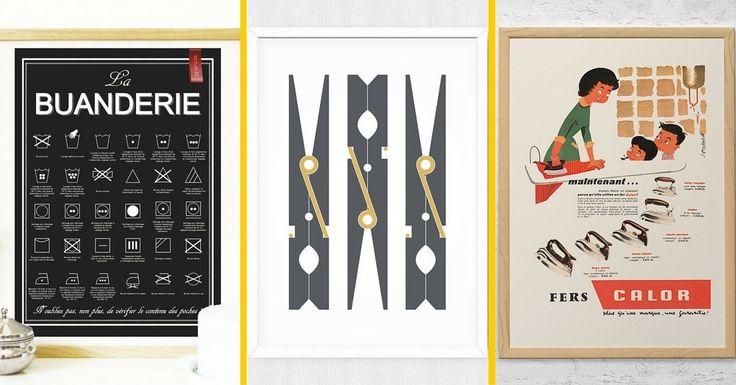 10 Affiches & Posters Pour Relooker Votre Buanderie !