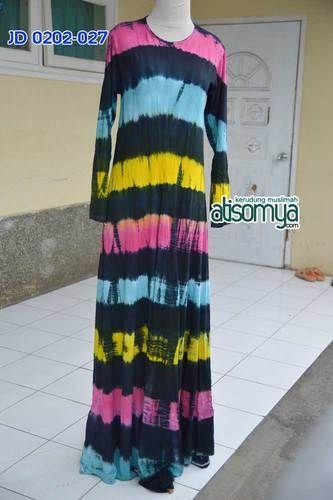 Gamis Pelangi Umbrella dress Tiedye : Ini Umbrella Dress dengan Reseleting di bagian depan sebagai akses Ibu Menyusui. Bahan dress, dari rayon lycra, atau yang juga sering dikenal sebagai kain kluyur. Karakter kainnya Elastis, Streetch, adem dan kuat. Sangat nyaman digunakan untuk beraktifitas.  Allsize fit to xl Bust up to 100cm Length : 140cm Price : Rp.255.000  Order via Line : hijab_id Sms/whatsapp : +6283848377733 Bbm : 74AEF4FB  Format order : Nama, no hp, alamat lengkap, kode order…