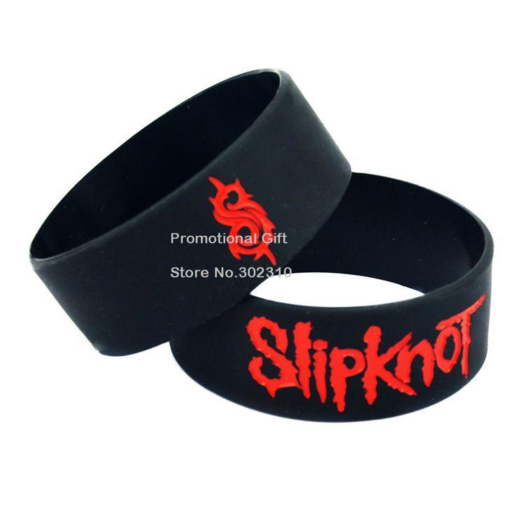 25 Шт./лот Slipknot Силиконовые Браслеты, Отличная Альтернатива Стиль Хэви-Метал Браслет Взрослый Размер