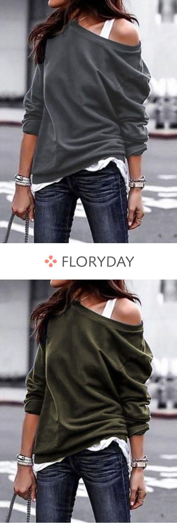 Sweatshirts mit schrägen Halsausschnitt,  #Halsausschnitt #mit #schrägen #SommerStrick #Sweat…