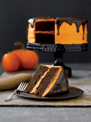 Chocolate Pumpkin Cake - I have made this cake every Halloween for years. It is by far my favorite cake recipe. I absolutely love it!!