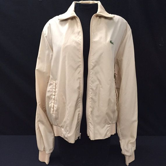 Vintage 90s Lacoste Bomber Jacket by UniqueVintageChicago on Etsy