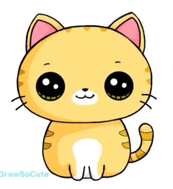 Cat Kawaii Cat Kawaii In 2020 Cute Animal Drawings Kawaii Kawaii Doodles Cute Kawaii Drawings