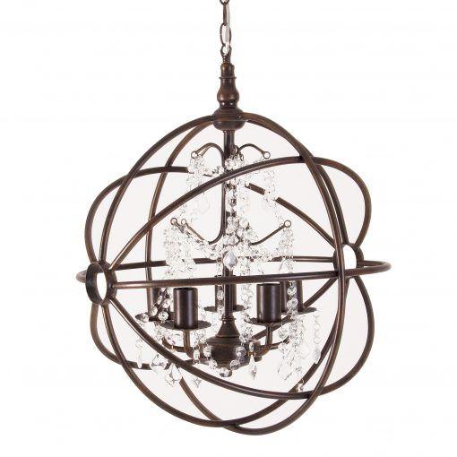 Round metalic lamp / Lampara redonda de metal.  Shop online, we ship worldwide.  www.tucanstore.com  Compra online, enviamos a todo el mundo.