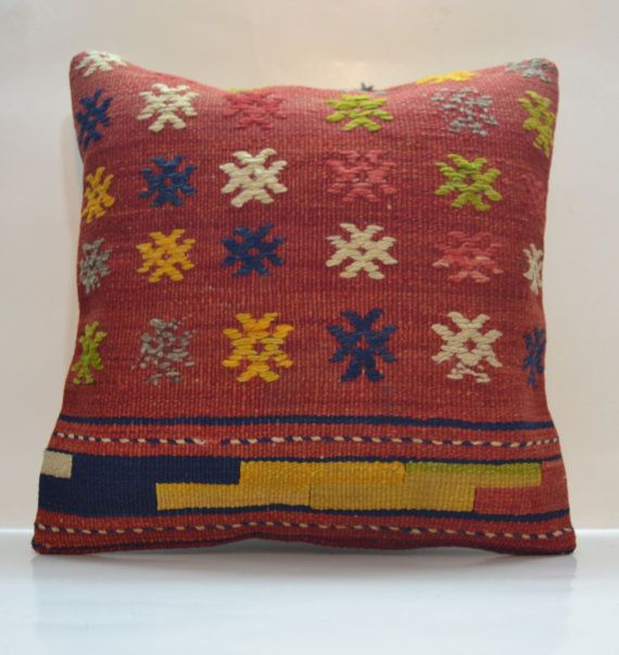 Hey, I found this really awesome Etsy listing at https://www.etsy.com/listing/180756695/red-yellow-and-blue-kilim-pillow-cover