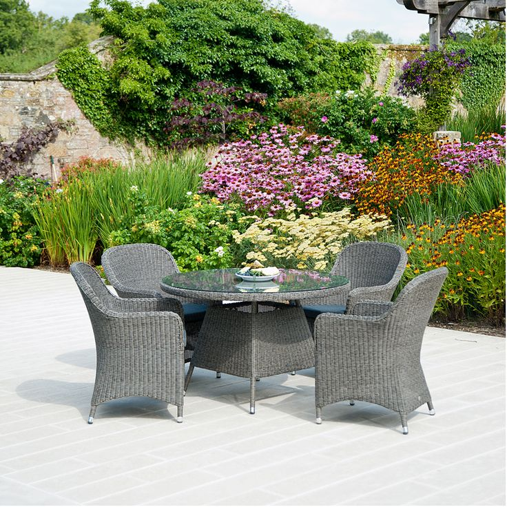 youll find the monte carlo grey 4 seater set the perfect place to enjoy garden table